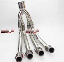 Stainless Steel Exhaust Downpipes Header Pipe for YAMAHA 2007 2008 YZF R1 07 08,  Motorcycle Spare Parts and Accessories