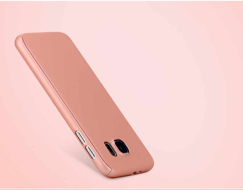360 Degree Full Body Phone Coque Case for Samsung Galaxy S5 S6 S7 Edge J510 J7 A710 Front Back Cover Capa Para Fundas+Glass Film