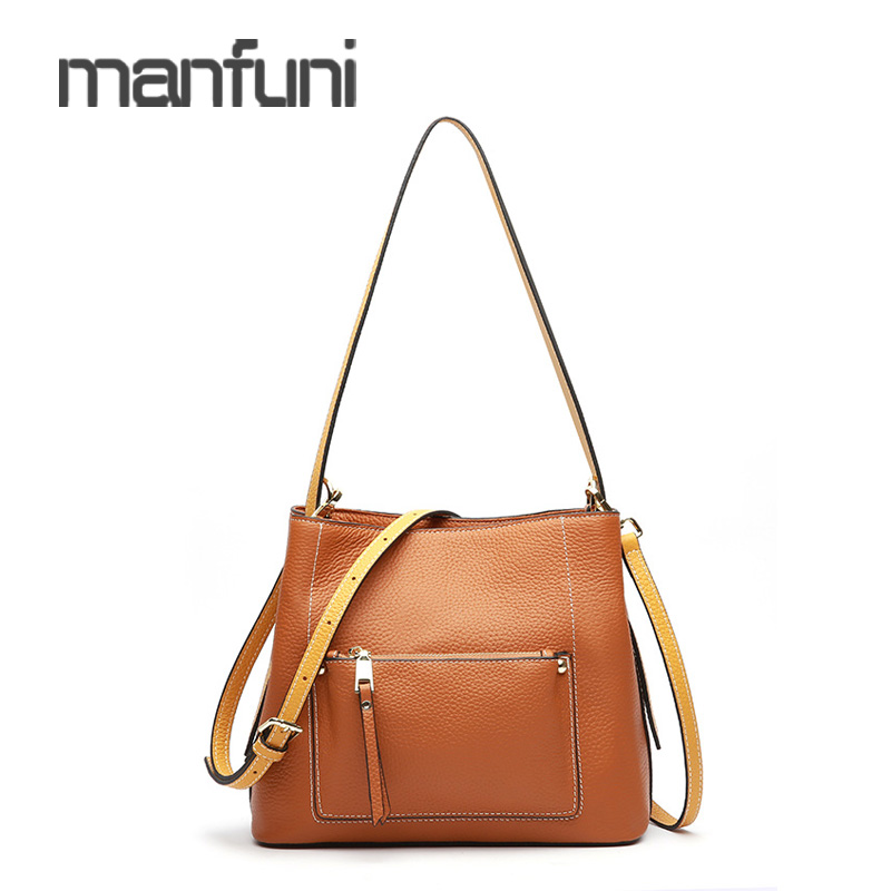 Large Capacity Shoulder Bag Women Leather Crossbody Bags High Quality Vintage Genuine Leather Casual Tote Messenger Bag Female недорого