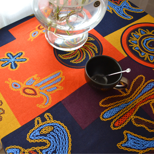 145cm X 100cm African Printed Cotton Linen Fabric For Patchwork Sewing  Cloth For Tablecloth Cushion Pillow