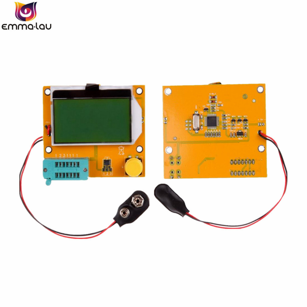 Battery buckle LCR-T4 ESR Meter Transistor Tester Diode Triode Capacitance SCR Inductance 328 LCD Display MOS PNP NPN