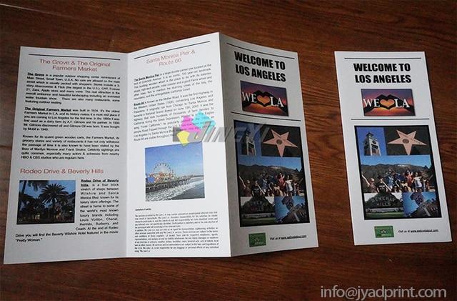 a4 flyer z fold brochure printing