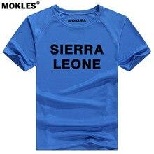 SIERRA LEONE t shirt diy free custom name number sle T Shirt nation flag sl republic