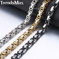 Персонализированные мужские ожерелья из нержавеющей стали Византийская Коробка звено цепи ожерелье s мужской Воротник модные ювелирные изделия подарки 18-36 \