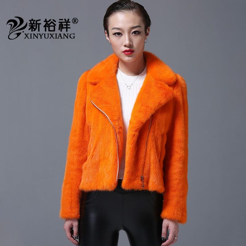 De gris Manteau Vestes Hiver Complet Fourrure Court As Manteaux Moto Nouveau Épais orange 219d Naturel Pelt Photo Manches Chaud Vison Mince 2018 Femmes Biker gPzAqgw