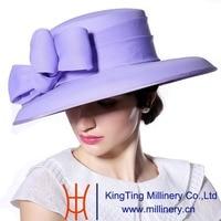 June Syoung 2015 Summer New Fashion Chiffon Hats 100 Chiffon Pure Color Romantic Purple Color Floral