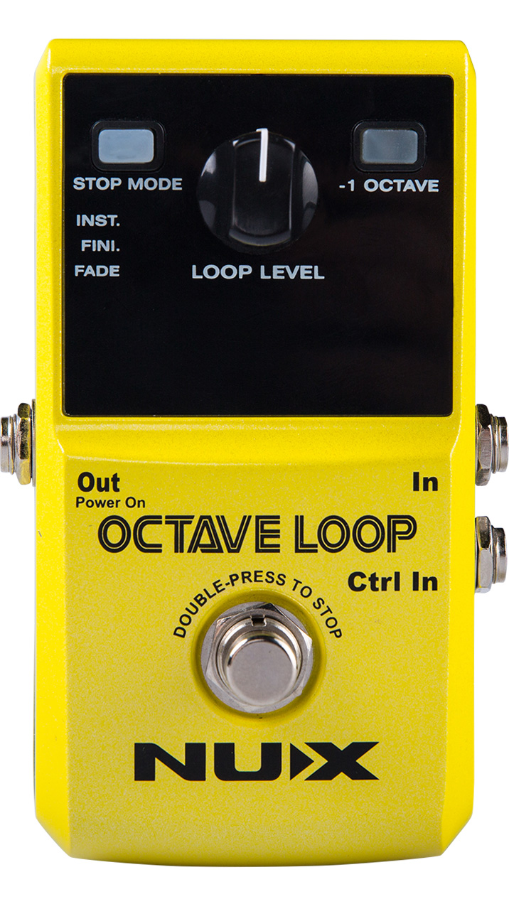 NUX Octave Loop Guitar Effects Pedal Phrase Loop Record Pedal nux octave loop looper pedal with 1 octave effect free bonus pedal case