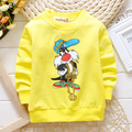 Kids Sweatshirts Spring Autumn Boys cotton Tops Cartoon Pattern Girls Hoodies Outerwear Baby Costume Children Clothing 80-95cm