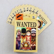 54 pçs/set uma peça figuras coleção macaco d. Luffy poker cartão jogando cartões caixa de cor embalagem criança presente brinquedo