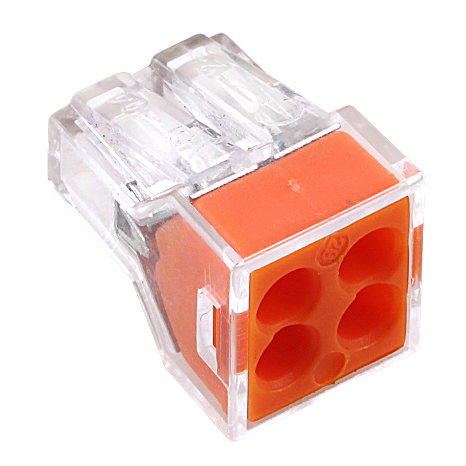 20Pcs PCT-104 Push wire wiring connector 4 pin conductor terminal block