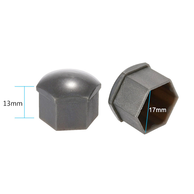 20Pcs 17mm Car Wheels Plastic Nuts with Screw Cap Removal Tools Gray for VW AUDI Drop shipping
