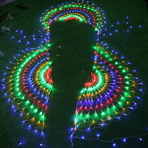 Image 3 - 3M RGB 3peacocks LED Outdoor Indoor LED Fairy String Curtain Light Xmas Party Wedding Celebration courtyard Decoration 110V 220V