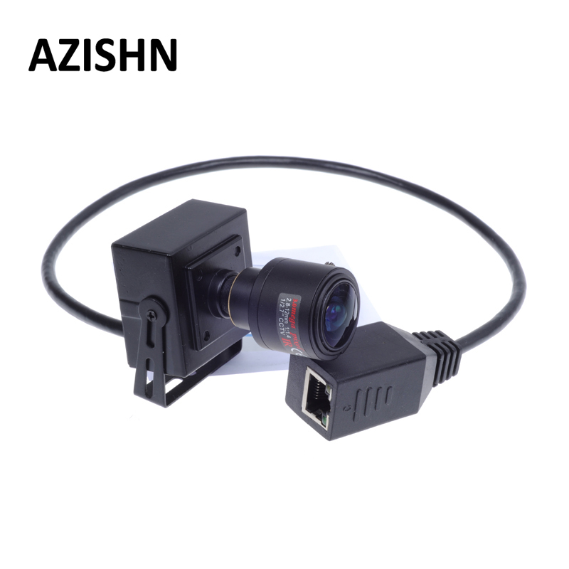 AZISHN Mini caméra POE câble ONVIF 2.0MP 1080 P caméra IP H.264 titry P2P 2.8-12mm Zoom manuel objectif CCTV réseau caméra