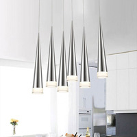 Simple Led Pendant Lights AC85 265V 5W Modern Led Conical Pendant Lamps Aluminum Hand Lighting Dining