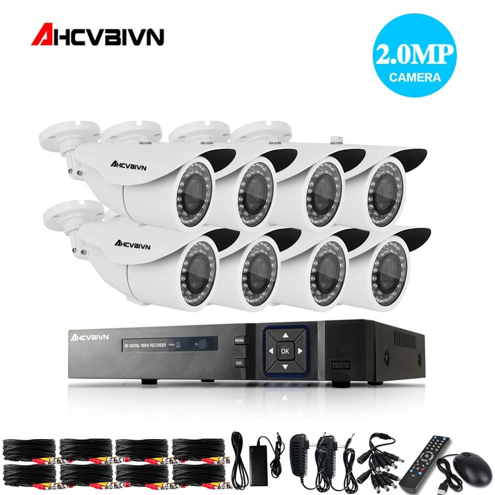 Accueil 8CH CCTV DVR Système AHD DVR 1080 P 2.0 Mégapixels Enhanced IR de Sécurité Caméra 3000TVL CCTV Caméra de Sécurité Système 1 TB HDD