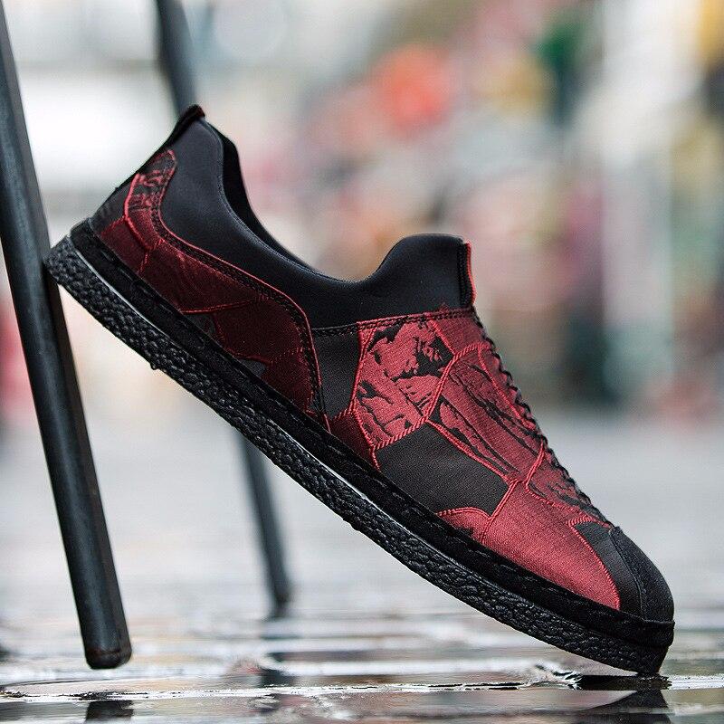 Printemps, été et automne coréen décontracté chaussures pour hommes mode conduite chaussures une pédale paresseux unique chaussures respirant hommes pois chaussures