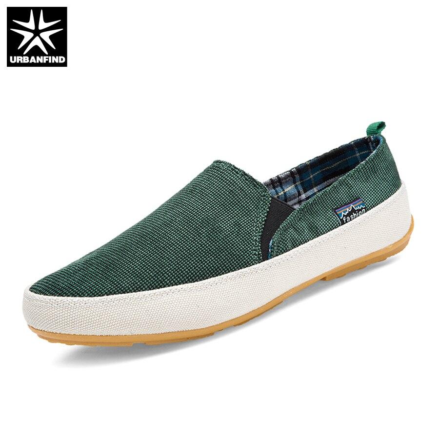 URBANFIND Men Casual Canvas Loafers Size 39-44 Patchwork Design Man Slip-on Shoes Spring Summer Footwear