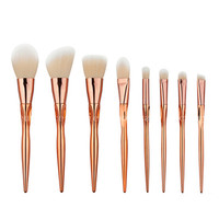 Wholesale 5 Lot Rose Gold Women Face Makeup Brushes 8Pcs Lot Heart Shaped Foundation Powder Eyeshadow