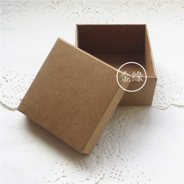 Wholesale 100Pcs/Lot 9*9+4.5cm Kraft Paper Box With Lid For DIY Soap Crafts Gift Packaging Retro Paper Cardboard Packing Boxes
