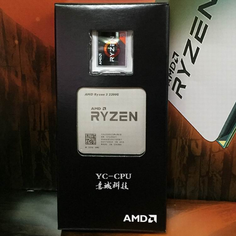 US $84 99 |AMD Ryzen R3 2200G CPU Processor with Radeon RX Vega 8 Graphics  4Core 4Threads Socket AM4 3 5GHz TDP 65W YD2200C5M4MFB-in CPUs from