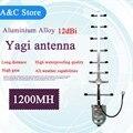 1.2 Г антенна yagi 12dBi Нержавеющей стали 1060 ~ 1200 МГц 3 м кабель 8 элементов N-Female cctv аксессуары FPV беспроводной передачи данных