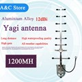 1.2G yagi antenna 12dBi Stainless steel 1060~1200MHz 3m cable 8 elements N-Female cctv accessory FPV wireless datas transmission