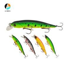 AI-SHOUYU 1pc Minnow Fishing Lures 10.5CM 11G Wobbler Suspending 3 Treble Hook Artificial Pesca Hard Bait Swimbait 5 Colors