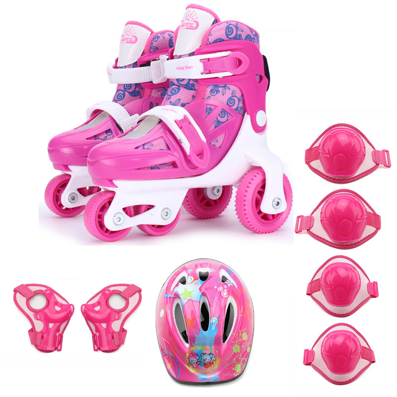 Enfants Enfants Belle Mignon Équilibre Stable Slalom Parallèle Patin À Glace Rouleau Incassable Chaussures Réglable Lavable Prévention Des Chutes