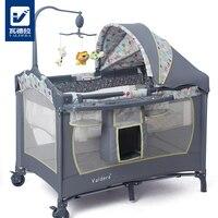 Valdera многофункциональная складная кроватка для младенца Модная складная кровать для игр bb детская кроватка колыбель кровать
