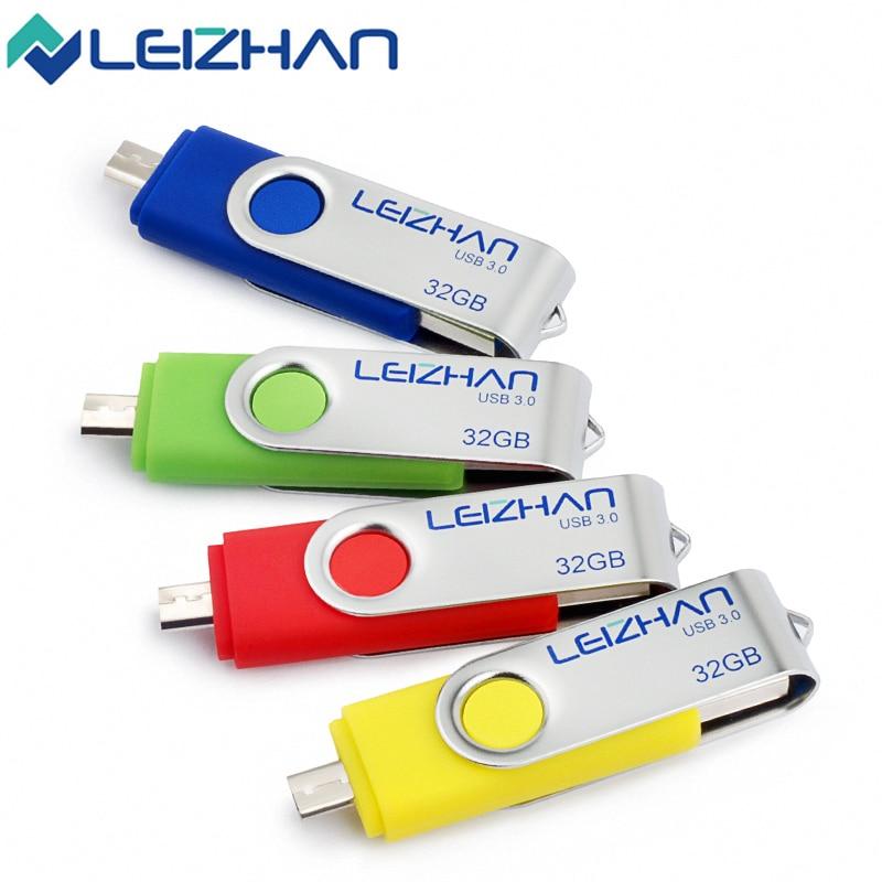 WinStone LEIZHAN Rotate 3.0 USB Flash Drive Rotated OTG U Stick 8G 16G 32G 64G Pen Drive Micro Smart Phone Memory Stick U Disk Pendrive