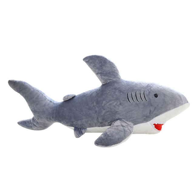 45cm Giant Shark Plush Shark Whale Stuffed Fish Ocean Animals Kawaii