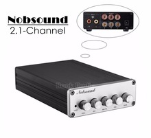2017 New Nobsound HiFi 2.1 Channel Audio Power Amplifier Stereo Amp 2*50W+100W Subwoofer