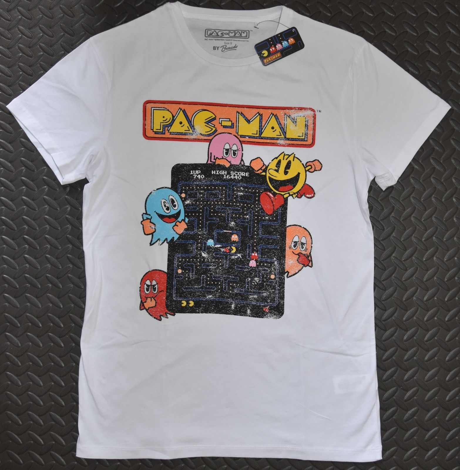 PACMAN Primark MENS T SHIRT Retro NEW UK Sizes S - XXL ...