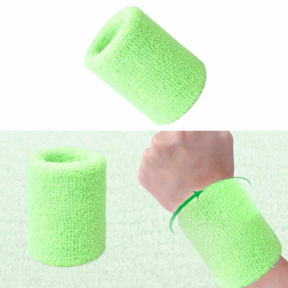 Wristbands ספורט סרט זיעת יד להקת זיעה יד תמיכת Brace כורכת משמרות כושר כדורעף כדורסל מוצץ כותנה A30526