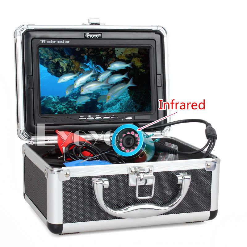 "Eyoyo Original 30m Professional Fish Finder Underwater Fishing Video Camera 7"" Color Monitor 1000TVL HD CAM 12pc Infrared lights"