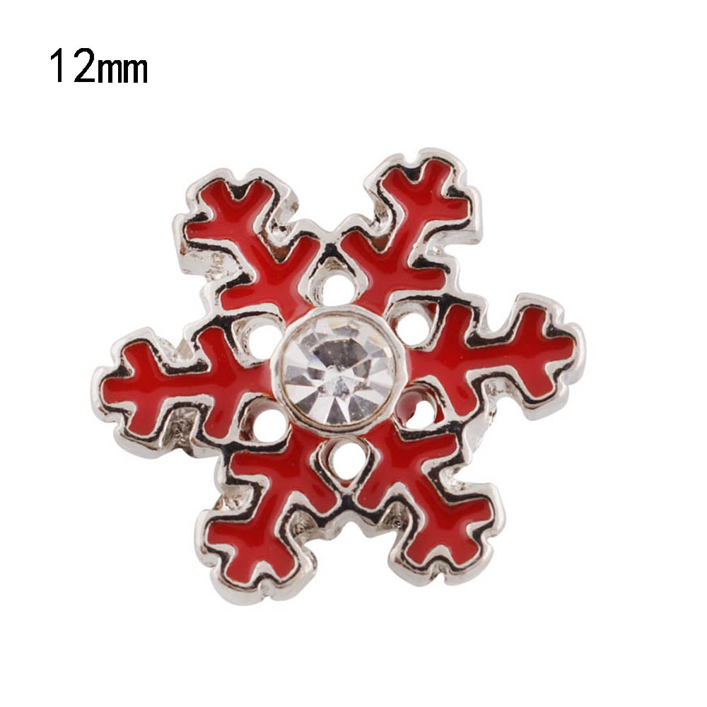 Christmas hat snowman 12mm metal snap button Wrist watches for women charm bead bracelet DIY jewelry KS6228-S