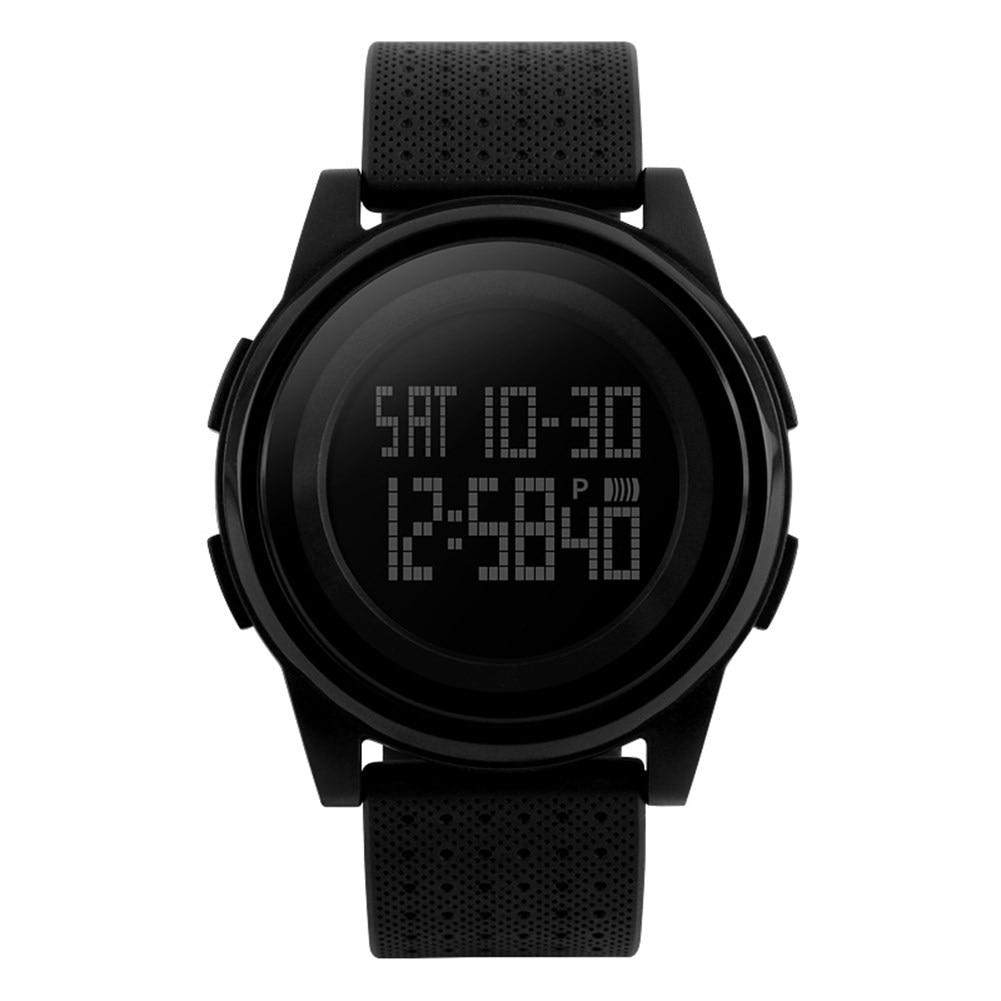 цена на Silicone digital wrist watch men women electronic wristwatch LED back light black watch sport run outdoor hour relogio masculino