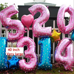 Oversized 40 inch pink blue number balloon aluminum foil helium balloons birthday wedding party decoration celebration.jpg 250x250