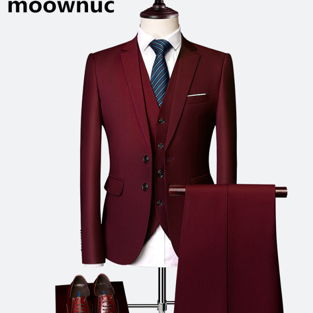 (Jacket+Vest+Pants) NEW suits men 2020 Classic 3 pieces of suits Slim Men's High Quality Suits Business Wedding plus size M-6XL Men's Fashion