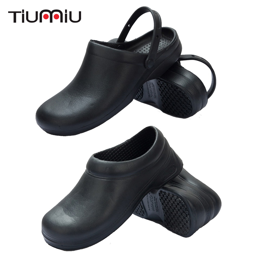 High Quality Chef Shoes Unisex Kitchen Hotel Coffee Shop Bar Bakery Chef Waiter Cleaning Workwear Shoes Black 37-44 Chef Uniform
