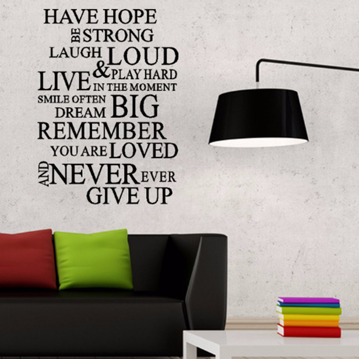 Inspirational Have Hope Wall Art Quote Stickers Vinyl Decal Removable Mural DIY