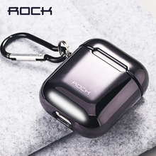 ROCK Electroplated Protective Case for Airpods Hard Shell Earphone Shell for Apple Airpods 1 2 Electroplating Protect Cover