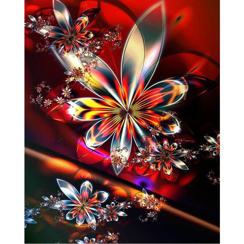 5D diy diamond painting flower full square diamond embroidery full mosaic cross stitch needleworks H765 in Diamond Painting Cross Stitch from Home Garden