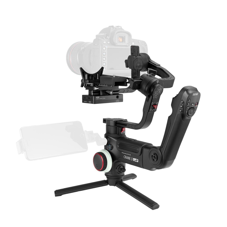 DHL Zhiyun grue 3 laboratoire 3 axes poche cardan DSLR caméra stabilisateur pour Sony A7M3 A7R3 Canon 6D 5D Panasonic GH4 GH5 Nikon D850