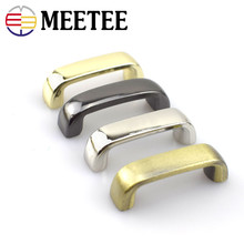 10pcs Meetee 2cm Metal Bridge Screw Buckles for Bags Strap Belt Fixed Accessories Handbag Hardware Parts DIY Leather Craft