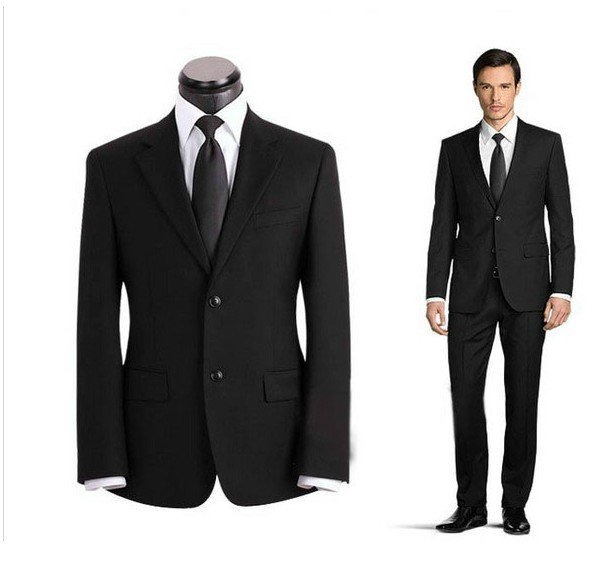 2015 Luxury Men's authentic work wear wedding fitted to send the tie special spike Jacket+pants M-X  FG34654