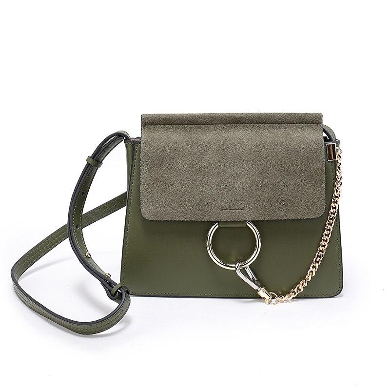 Women leather handbags Messager Bag Jumbo Gold Chain Flap Shoulder Bag Crossbody bags цена