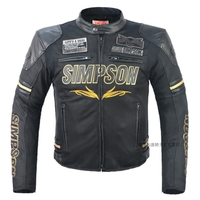 Free Shipping 1pcs NEW Men Motorcycle Jacket PU Leather Racing Suits Armor Riding Protect With 7pcs