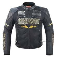 Free shipping 1pcs NEW Men Motorcycle Jacket PU Leather Racing Suits Armor Riding Protect With 7pcs pads