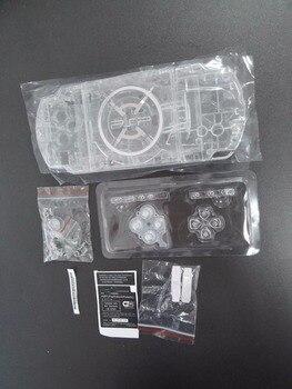 คริสตัลสี set set Shell Case สำหรับ PSP3000 PSP 3000 เกมคอนโซลพร้อมชุดปุ่ม
